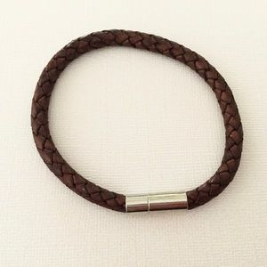 6mm Antique Brown Bolo Leather Bracelet